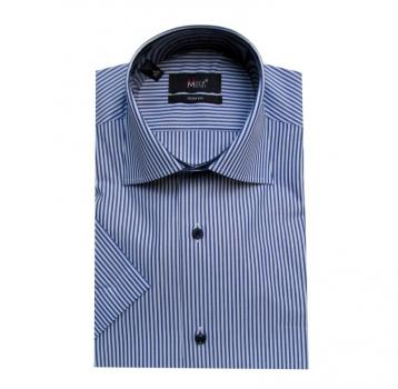 Elegante Herren Hemd Slim Fit Kurz Arm