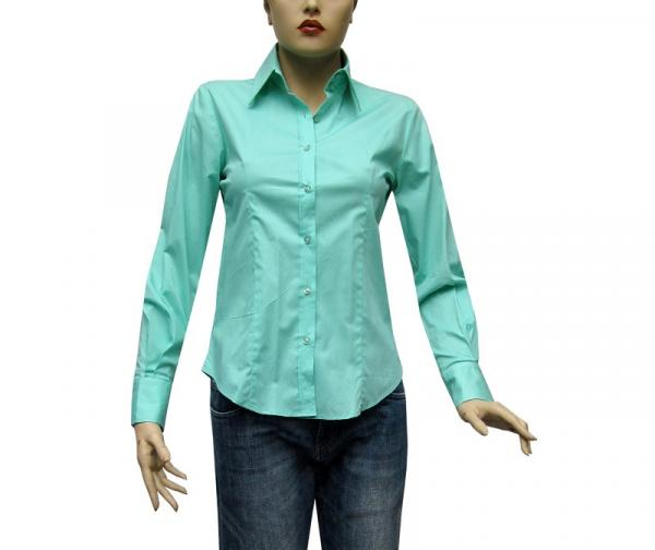 Damenbluse Slim-fit Hemd Bluse